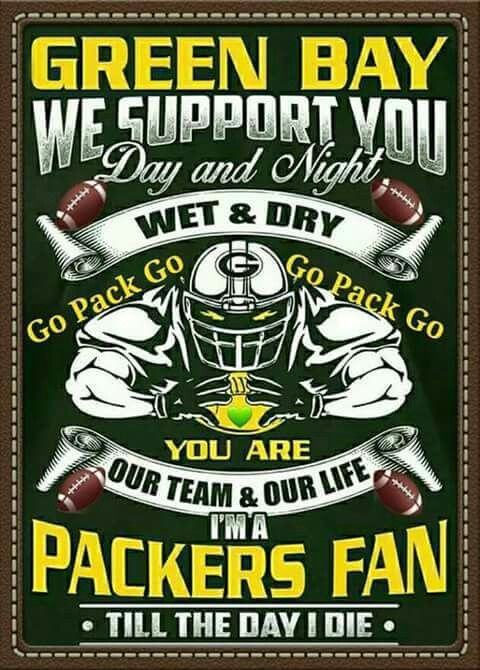 Even though today's game just about killed me. I still love me some packers.