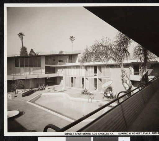 Photograph, Hollywood Riviera Apartments, 1953 :: Edward H. Fickett, FAIA, Collection