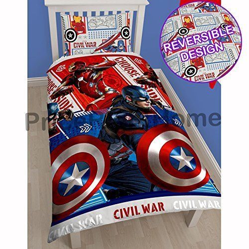 Marvel Captain America Civil War SingleUS Twin Rotary Duvet Cover Set >>> Check out the image by visiting the link.