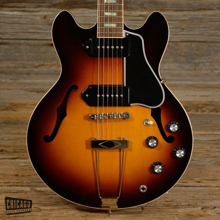 Gibson ES-390 w/P90s Vintage Dark Burst 2014 USED (s706)