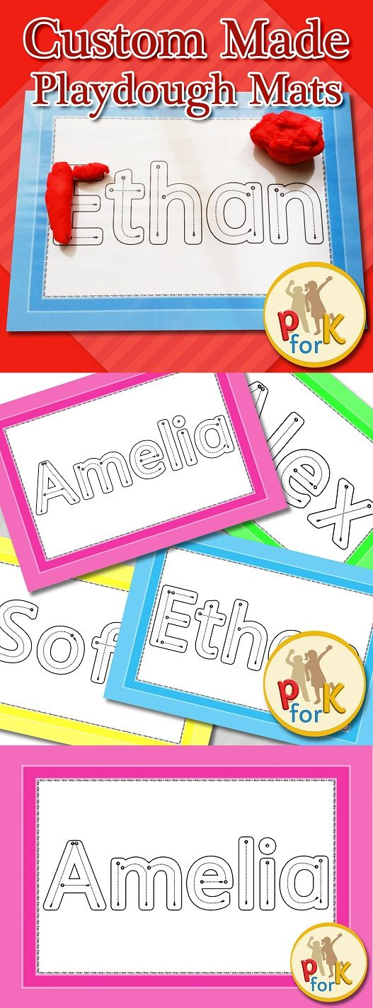 Name spelling activity for pre-school, kindergarten or prep. Great way to teach children how to correctly form the letters of their names $ Graphics/Font used with special permission from artist LT8485S