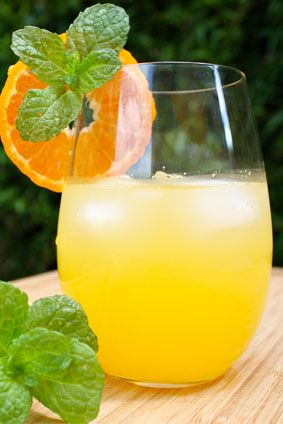 Minty Citrus-Ginger Flavored Water