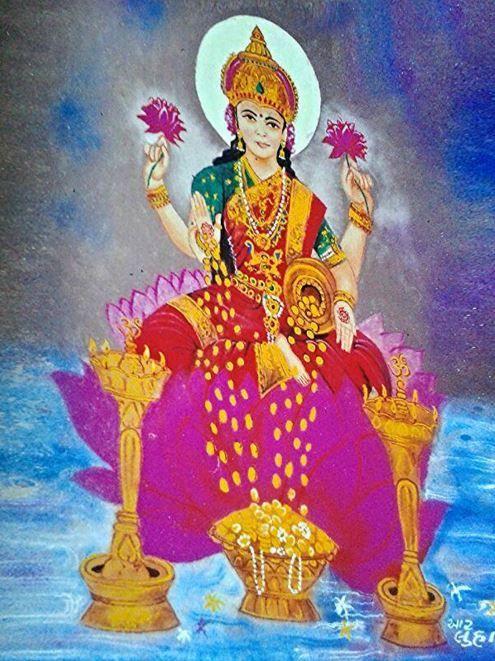 Diwali Rangoli Design of Goddess Lakshmi   rangoli ...