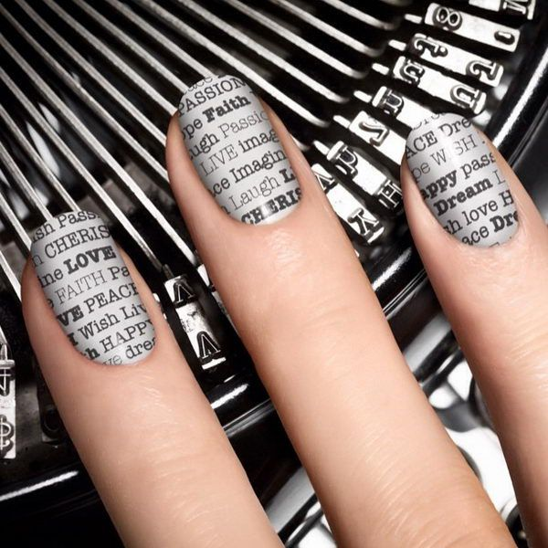 Newspaper Nails, Cool Newspaper Nail Art Ideas, http://hative.com/cool-newspaper-nail-art-ideas/,