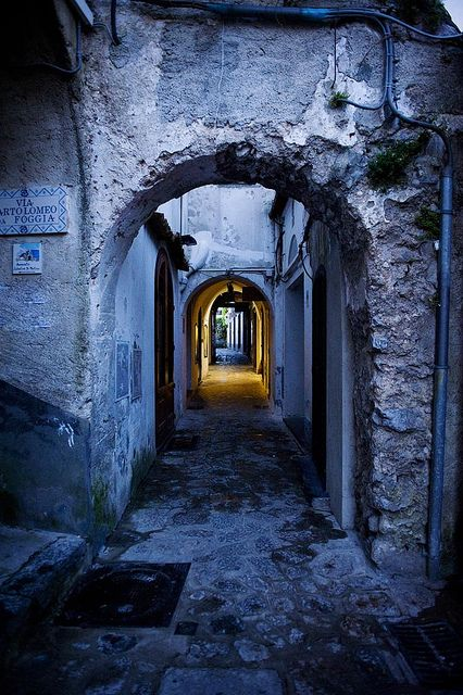 Ravello, Province of Salerno , Campania region, Italy - been under this arch!