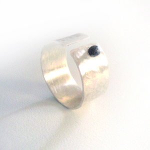 """Silver ring by """"The red button"""""""