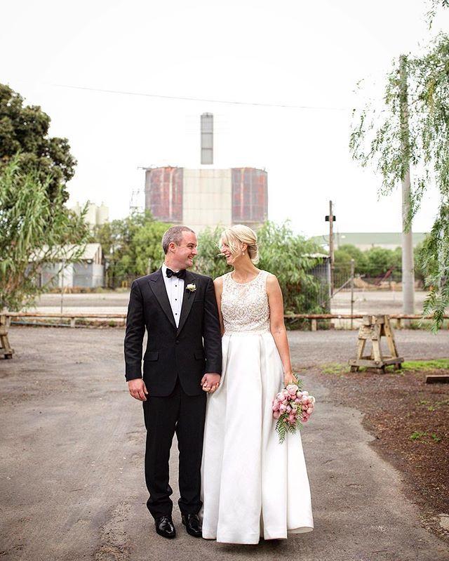 Urban cool... #melbournewedding #melbournebride #weddingdress #laurenshall #weddingstyle #realweddings #wharehouse #urban #katesgotacamera #kcphoto #canon6d #canonaustralia