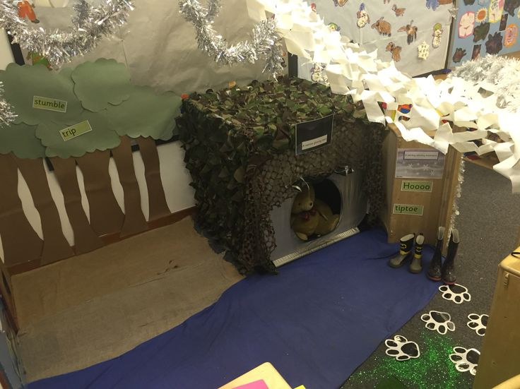 We're Going on a Bear Hunt role-play area.