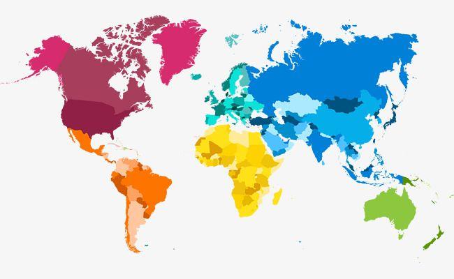 Carte Du Monde De Couleur En Matiere De Vecteur Carte Du Monde Carte De Couleur Png Et Vecteur Carte Du Monde Couleurs Du Monde Cartes