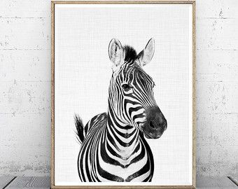 Zebra Print, dier kwekerij Print, kwekerij Decor, Animal Print, Baby dierlijke Print, Boy Gift, bosrijke dierlijke Print, digitale Print, afdrukbare