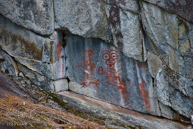 Pitt Lake pictograph from Katzie First Nation - near Pitt Meadows