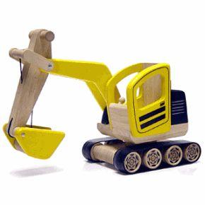 Engin de chantier en bois : La Pelleteuse | Tradition jouet