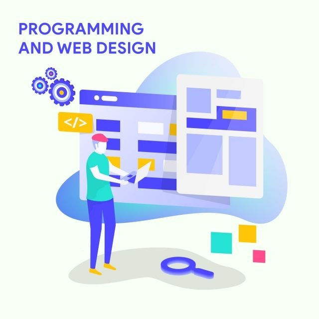 Download This Illustration For Business Solutions Start Up Programming And Web Design Modern Vector Illustra Web Design Quality Web Design Modern Web Design