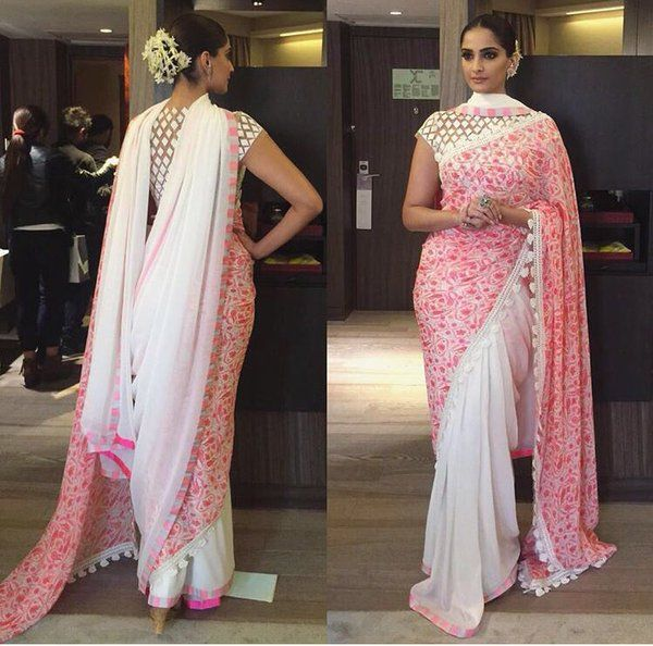 #CurrentlyTrending: Saree with a Double pallu | Bling Sparkle