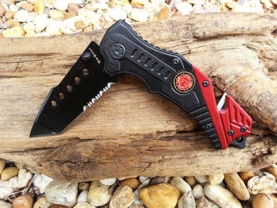 Custom Laser Engraved Fire Fighter Pocket Knife