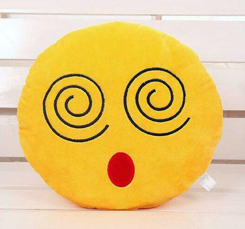 awesome Dizzy Face Emoji Pillow