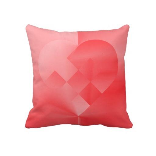 Danish Valentine Heart 71 - by Greta Thorsdottir - Pillow from Zazzle