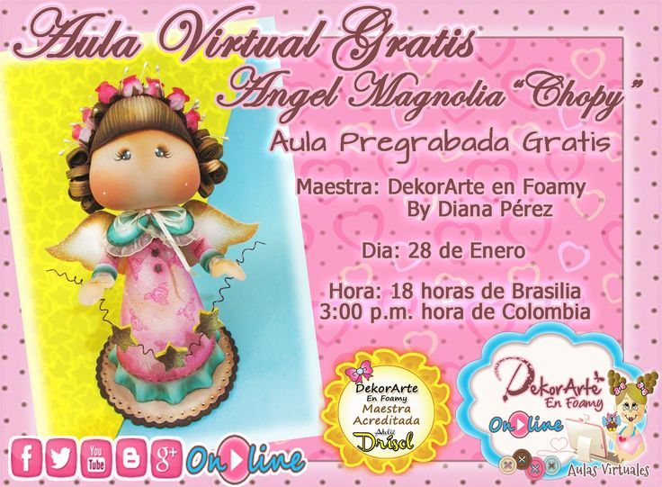 DEKORARTE EN FOAMY- AULA VIRTUAL ANGEL MAGNOLIA - MICROPOROSO - GOMA EVA