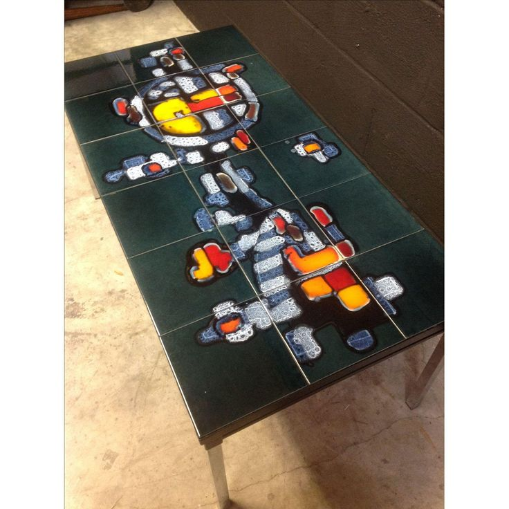 Image of Mid-Century Tile-Top Table