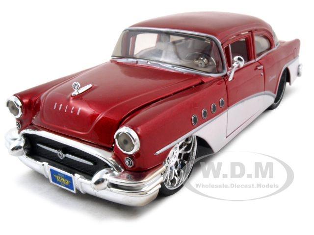 1955 buick century diecast car model 1 24 red die cast car. Black Bedroom Furniture Sets. Home Design Ideas