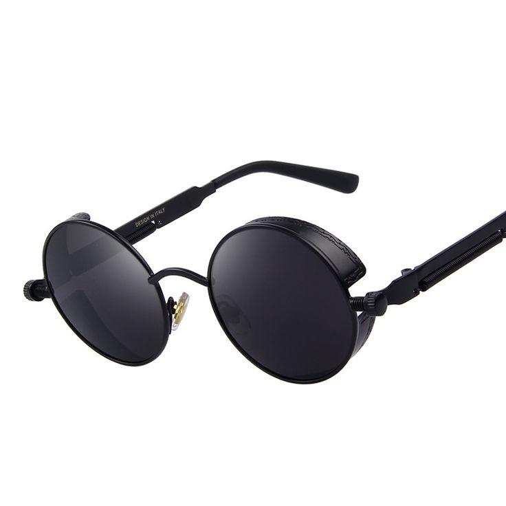 Vintage Women Steampunk Round Design Sunglasses //Price: $9.95 & FREE Shipping //