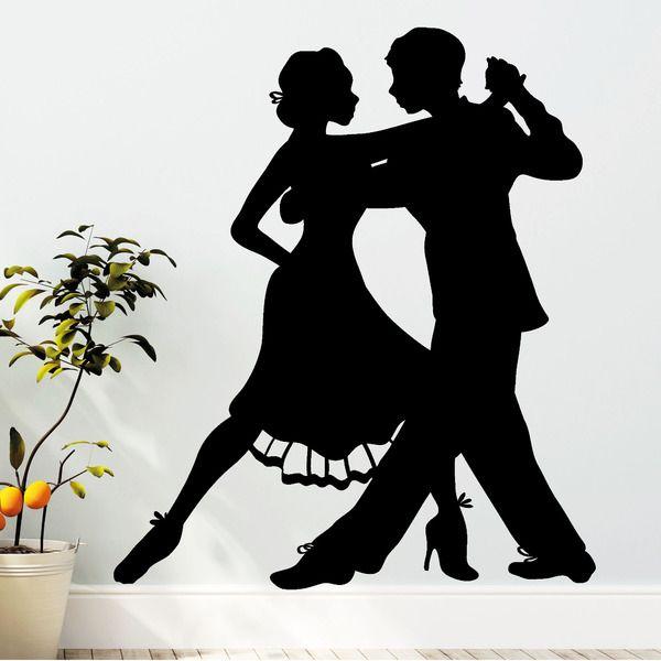 Wandtattoo  Tänzer Tanzpaar 55 x 63 cm von wandtattoo-loft via dawanda.com