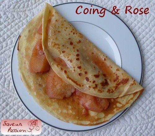 Crêpe au coing et sirop de rose (pâte à crêpe express)