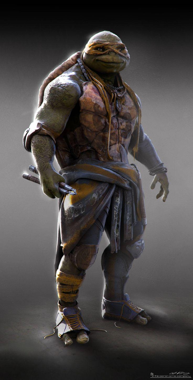 Concept art de Michelangelo en Teenage Mutant Ninja Turtles (2014), por Jared Krichevsky
