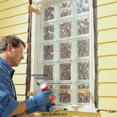 Glass Block installation  Bathroom window