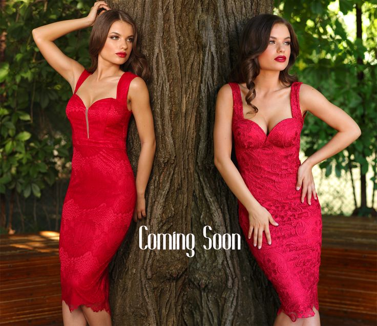 Red dress or pink dress? Both are very elegant, and will be available soon :)