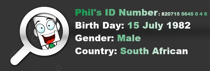 The secret locked in the #SouthAfrican ID Number. Once you know you won't be worried about submitting your information :)