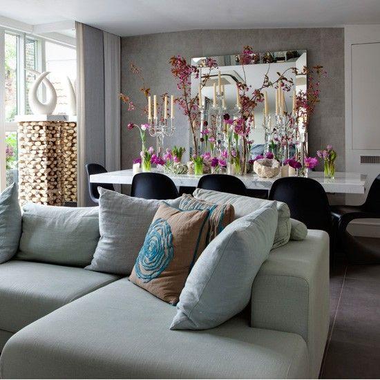 Bright open-plan living room