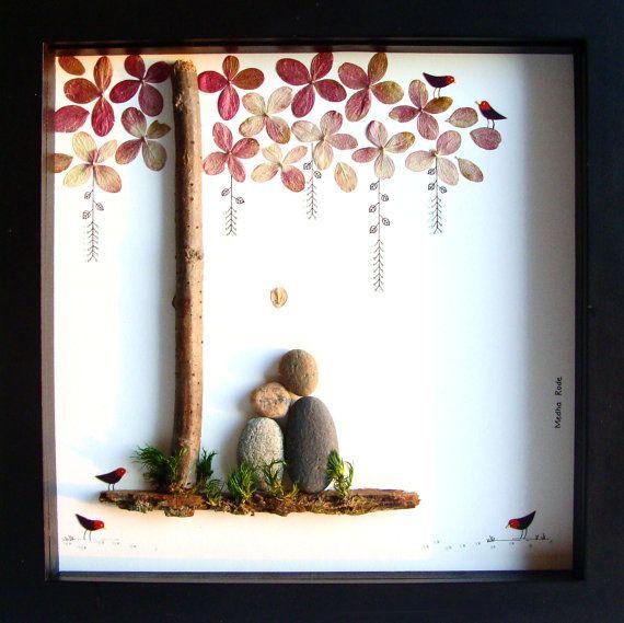 Matrimonio unico regalo di nozze-personalizzato regalo di nozze-Personalized Gift-Pebble Art-Anniversario Gift- Unico Engagement Gift - Foto Matrimonio