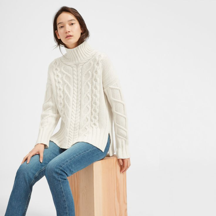 Women's Oversized Cable Turtleneck | Everlane