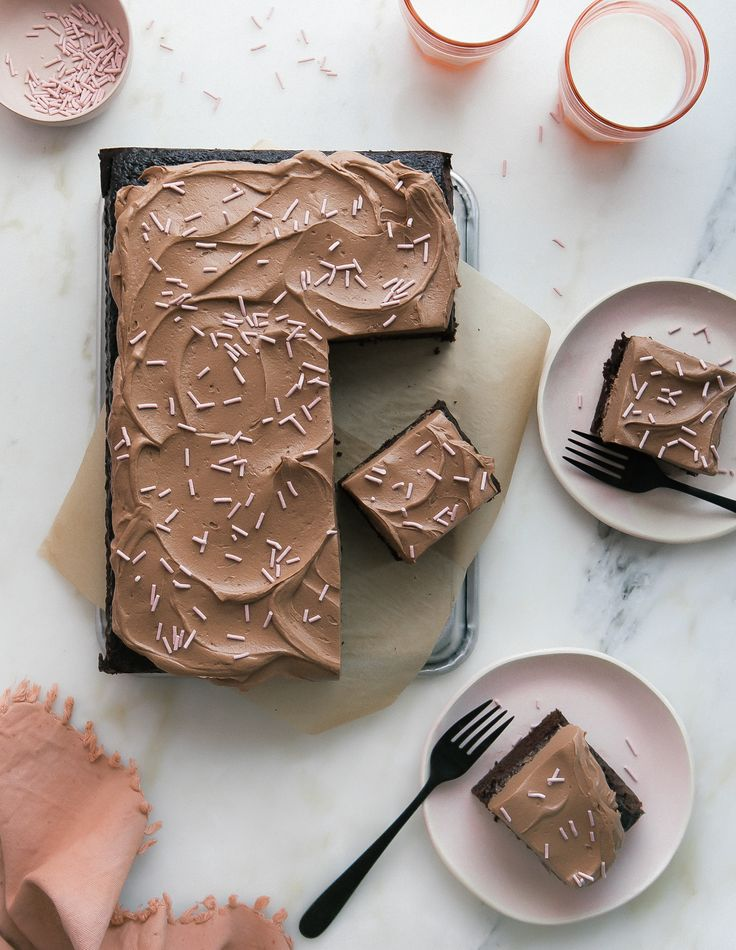 One-Bowl Sheet Chocolate Sheet Cake with Fudge-y Simple Frosting – A Cozy Kitchen