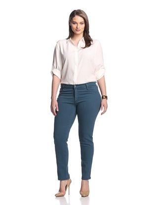 77% OFF James Jeans Women's Twiggy Z Skinny Jean (Teal Blue)