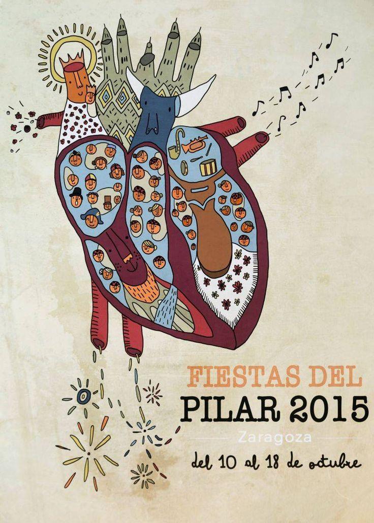 Cartel Finalista Pilar 2015 Titulo: 100% Corazón Maño,