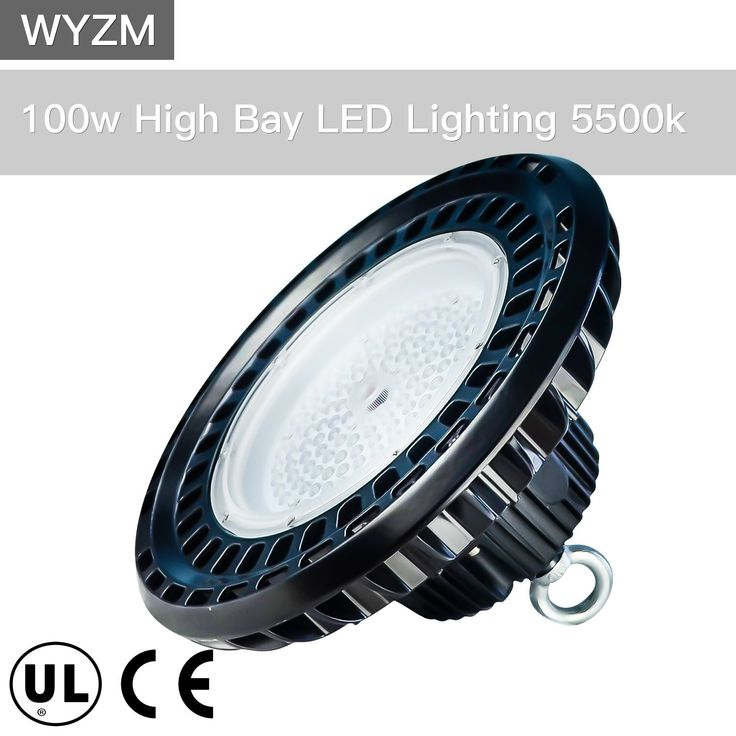 100W UL Proved High Bay LED Lighting,Works From 110V to 277V,300W-350W HPS or MH Bulbs Equivalent,Great LED High Bay Lights for Garage Commercial Shopping Mall