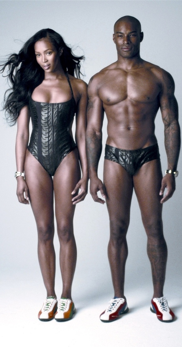 Afro-Asian supermodels: Naomi Campbell & Tyson Beckford