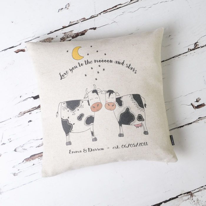 Love You To The Moooon And Stars Cushion Cover