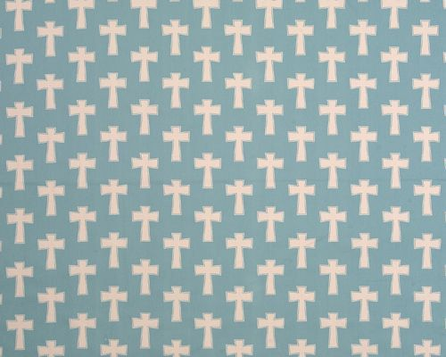 Premier Prints CROSS Village Blue or by SistersFabricandMore, $8.99