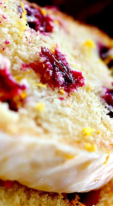 Cranberry Orange Pound Cake with Orange Glaze ❊