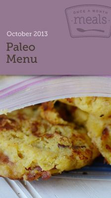 Paleo October 2013 Menu - Complete Whole30 Compliant Freezer Meal Menu to keep you on track! Once A Month Meals - Freezer Meals - Freezer Recipes - OAMM - OAMC