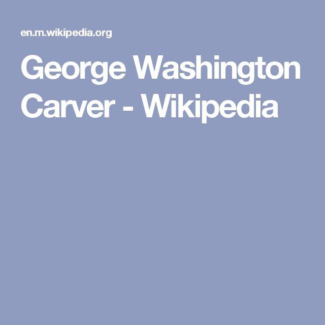 17 Best Ideas About George Washington Carver On Pinterest