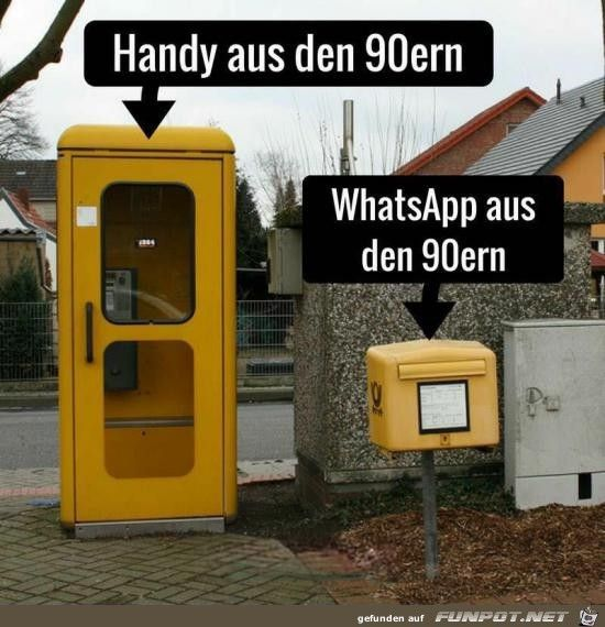 lustiges Bild 'Handy und WhatsApp früher.jpg'- Eine von 22227 Dateien in der Kategorie 'witzige Bilder' auf FUNPOT.
