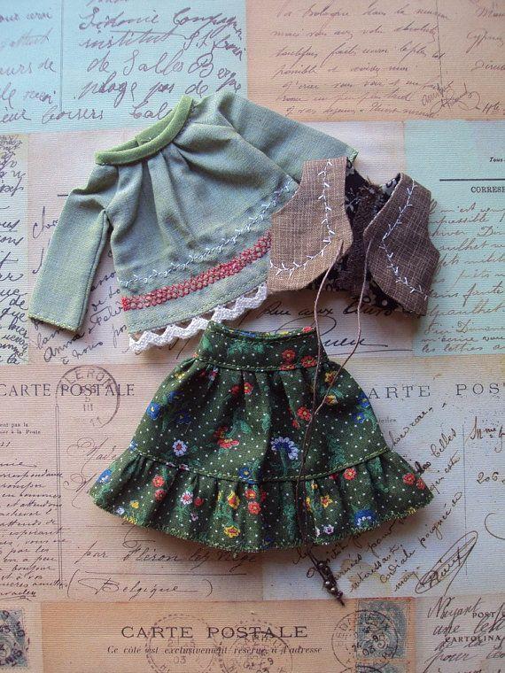 Woodland Girl set for Blythe par moshimoshistudio sur Etsy