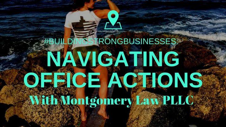 Navigating a Trademark Office Action #BuildingStrongBusinesses #trademarks #intellectualproperty #businessattorney #buildingabrand #branding101