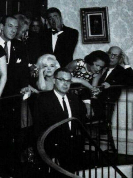 Marilyn at the J.F. Kennedy birthday gala after- party at Arthur Krim's, May 19th 1962.