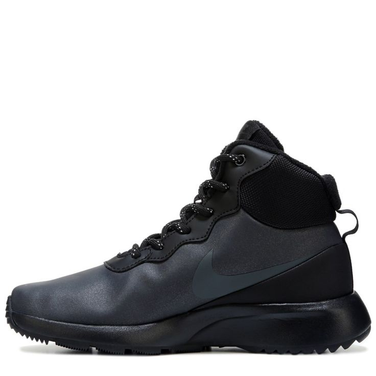 Nike Women's Tanjun High Top Sneaker Boots (Black/Black) - 10.0 M