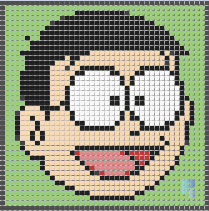 Nobita Nobi Doraemon perler pattern - Patrones Beads / Plantillas para Hama